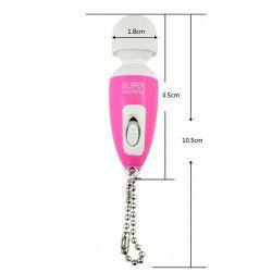 Mini vibrador potente - Vibrador rosado - Llavero portátil